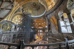 Hagia Sophia inre, Istanbul, Turkiet arkivbild