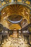 Hagia Sophia Interior. The Hagia Sophia (also called Hagia Sofia or Ayasofya) interior architecture, famous Byzantine landmark and world wonder in Istanbul Stock Photos