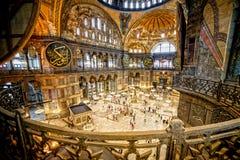 Hagia Sophia Interior. The Hagia Sophia (The Church of the Holy Wisdom or Ayasofya in Turkish) spectacular Byzantine landmark and world wonder in Istanbul Royalty Free Stock Image
