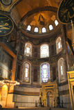 Hagia Sophia Interior. Hagia Sophia (Church of Holy Wisdom) is an example of Byzantine architecture. Originally constructed as a church between 532 and 537 A.D Royalty Free Stock Photography