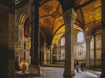 Hagia Sophia. Interior of the famous Hagia Sophia museum in Turkey Royalty Free Stock Image