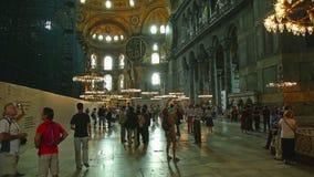 Hagia Sophia Interior Istanbul almacen de video