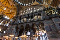 Hagia Sophia interior at Istanbul Turkey - architecture background Royalty Free Stock Photography