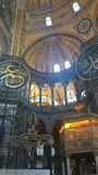 Hagia Sophia interior at Istanbul Turkey - architecture background royalty free stock images