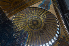 Hagia Sophia Interior in Istanbul, Turkey Royalty Free Stock Photography