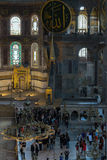 Hagia Sophia Interior in Istanbul, Turkey Royalty Free Stock Images
