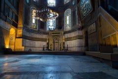 Hagia Sophia Interior in Istanbul, Turkey Royalty Free Stock Images