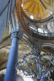 Hagia Sophia interior at Istanbul Turkey. Detail interior of Hagia Sophia (Hagia Sofia, Ayasofya)  in Istanbul, Turkey Royalty Free Stock Photos