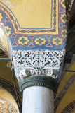 Hagia Sophia interior at Istanbul Turkey. Detail interior of Hagia Sophia (Hagia Sofia, Ayasofya)  in Istanbul, Turkey Stock Images