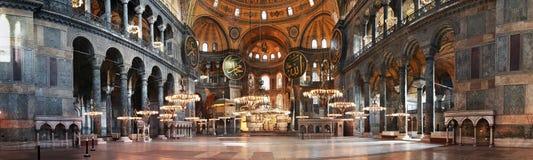 Hagia Sophia interior at Istanbul Turkey. The Hagia Sophia interior, famous Byzantine historical architectural world wonder in Istanbul, Turkey royalty free stock image