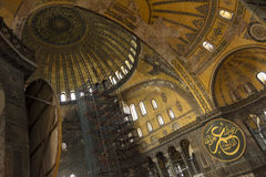 Hagia Sophia Interior, Istanbul, Turkey Stock Photo