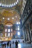 Hagia Sophia interior at Istanbul Turkey stock photo