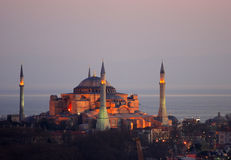 Hagia Sophia, Istanboel, Turkije Stock Fotografie