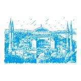 Hagia Sophia in Istanboel, Turkije Vector Illustratie