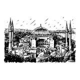 Hagia Sophia, Istanboel, Turkije Stock Illustratie