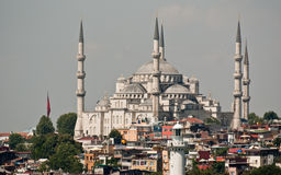 Hagia Sophia in Istanbul. The beautiful gleaming white Hagia Sophia is now a museum but it began as a Byzantine Greek Orthodox church and was converted into a Stock Image