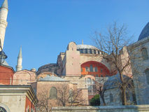Hagia Sophia in Istanbul. Hagia Sophia church of the Holy Wisdom in Constantinople now Istanbul Royalty Free Stock Photography