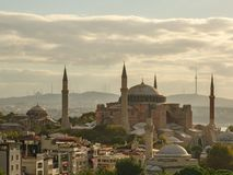 Hagia Sophia in Istanbul the early summer morning royalty free stock images