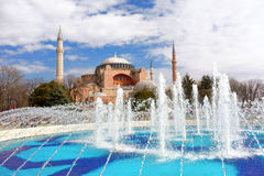 Hagia Sophia in Istanbul. Famous Landmark Hagia Sophia Mosque in Istanbul Turkey Royalty Free Stock Photography