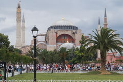 Hagia Sophia, Istanbul, Turkey. The Hagia Sophia Mosque in Istanbul, Turkey Stock Photos
