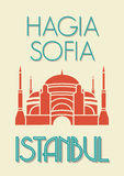 Hagia Sophia, Istanbul poster Royalty Free Stock Images