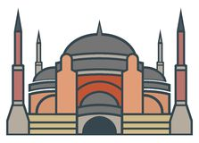 Hagia Sophia, Istanbul - simple icon Royalty Free Stock Photo