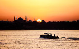 Hagia Sophia in Istanbul at Sunset Stock Photos