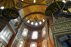 The Hagia Sophia, Istanbul, Turkey. The Hagia Sophia is a former Orthodox patriarchal basilica, later a mosque, now a museum Stock Photography