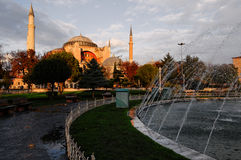 The Hagia Sophia, Istanbul, Turkey. The Hagia Sophia is a former Orthodox patriarchal basilica, later a mosque, now a museum Stock Images