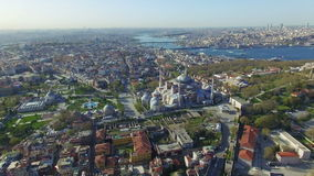 Hagia Sophia in Istanbul, Turkey stock footage
