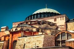 Hagia Sophia in Istanbul, Turkey. Basilica of Hagia Sophia is the greatest monument of Byzantine Culture royalty free stock photo