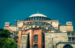 Hagia Sophia in Istanbul, Turkey. Basilica of Hagia Sophia is the greatest monument of Byzantine Culture royalty free stock photography