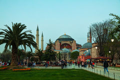 Hagia Sophia in Istanbul, Turkey early in the evening Royalty Free Stock Images