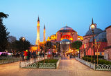 Hagia Sophia in Istanbul, Turkey early in the evening Royalty Free Stock Photography