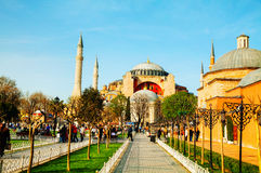 Hagia Sophia in Istanbul, Turkey early in the morning Stock Images