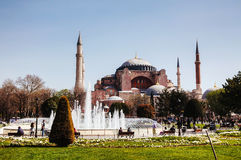 Hagia Sophia in Istanbul, Turkey early in the morning Royalty Free Stock Photo