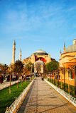 Hagia Sophia in Istanbul, Turkey early in the morning Royalty Free Stock Image