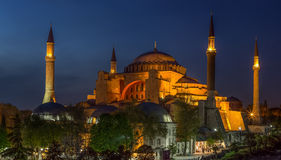 Hagia Sophia in istanbul,Turkey. The famous Hagia Sophia in istanbul,Turkey royalty free stock image