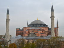 Hagia Sophia in Istanbul, Turkey. Hagia Sophia is the greatest monument of Byzantine Culture stock photos