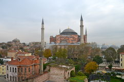 Hagia Sophia in Istanbul, Turkey. Hagia Sophia is the greatest monument of Byzantine Culture royalty free stock image