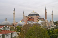 Hagia Sophia in Istanbul, Turkey. Hagia Sophia is the greatest monument of Byzantine Culture royalty free stock photos