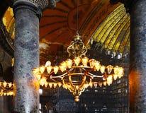 The Hagia Sophia of Istanbul, Turkey-March 30, 2018: Turkish lam royalty free stock photo