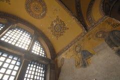 Hagia Sophia - Istanbul - Turkey. Mosaic interior in Hagia Sophia at Istanbul Turkey - architecture background Royalty Free Stock Photography