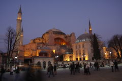 Hagia Sophia Istanbul, Turkey, nightview Royalty Free Stock Photos