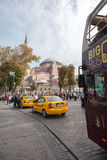 Hagia Sophia. ISTANBUL - TURKEY - OCT 7: Unidentified tourists visiting the Hagia Sophia museum. Hagia Sophia is the greatest monument of Byzantine Culture in stock images