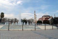 Hagia Sophia in Istanbul, Turkey - one of the European Capital of Culture 2018. Hagia Sophia, Turkish Ayasofya, Latin Sancta Sophia, also called Church of the stock image