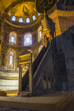 Hagia Sophia in Istanbul, Turkey. Place of prayer in the St. Sophia of Constantinople, former patriarchal Orthodox Cathedral, later - a mosque, now - Museum; the Stock Images