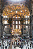 Hagia Sophia, Istanbul. ISTANBUL, TURKEY - SEPTEMBER 06, 2014: Hagia Sophia interior on September 06, 2014 in Istanbul, Turkey. Hagia Sophia is the greatest royalty free stock photo