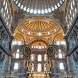 Hagia Sophia, Istanbul. ISTANBUL, TURKEY - SEPTEMBER 06, 2014: Hagia Sophia interior on September 06, 2014 in Istanbul, Turkey. Hagia Sophia is the greatest stock image