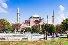 Hagia Sophia. ISTANBUL, TURKEY - SEPTEMBER 09, 2014: Hagia Sophia on September 09, 2014 in Istanbul, Turkey. Hagia Sophia is the greatest monument of Byzantine royalty free stock photo
